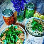 Gericht des Monats Juli // Basilikum- Pesto // Tomaten- Feta- Pesto